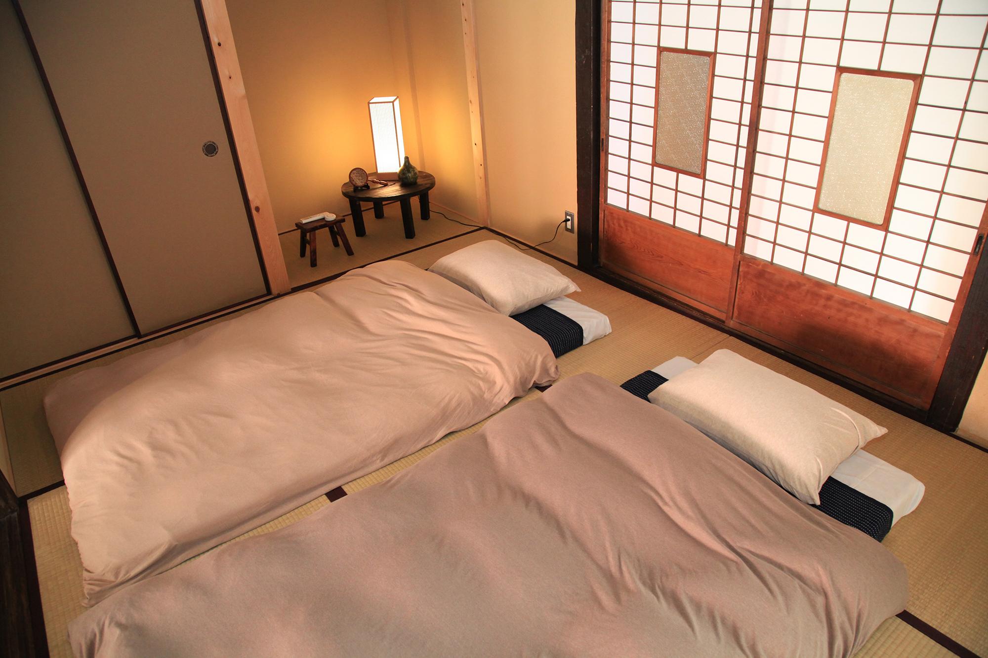 暮らしの宿 てまり「おいとま」1階和室のお布団