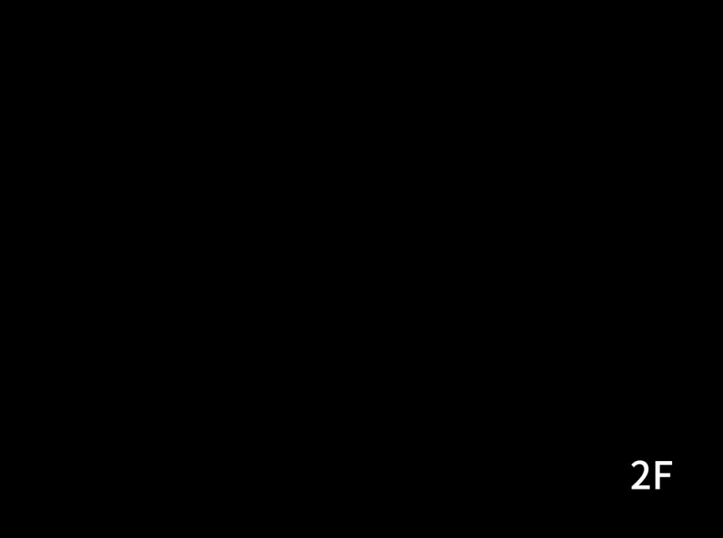 大人3〜4名さまのグループが2階板の間のベッドを利用しているレイアウト図